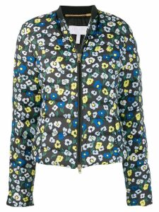 Escada Sport floral-print quilted jacket - Blue