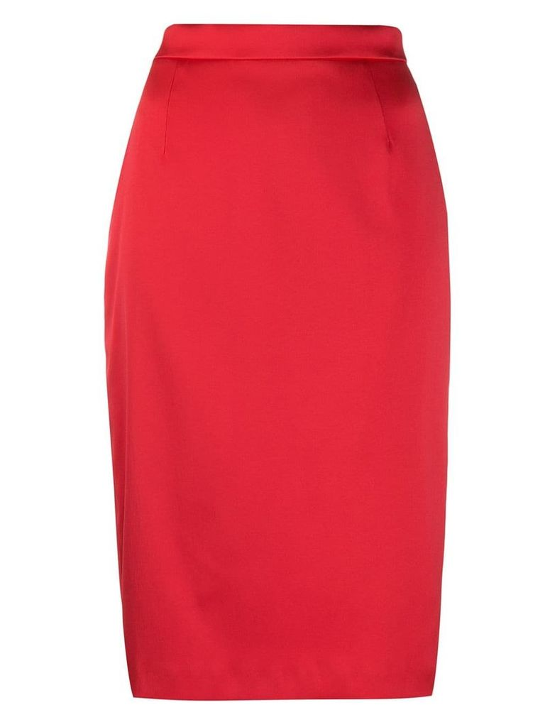 Escada mid-length pencil skirt - Red