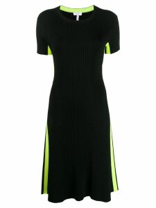 Escada Sport ribbed fitted dress - Black