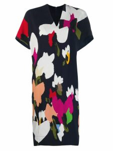 Escada abstract print shift dress - Blue