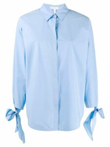 Escada Sport bow detail shirt - Blue