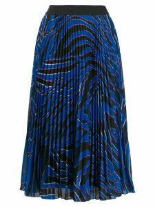 Escada Sport pleated print skirt - Blue
