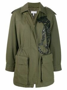 Escada Sport embellished tiger coat - Green