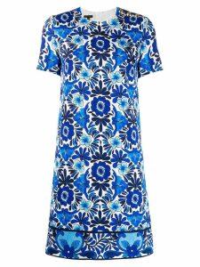 Escada floral jacquard dress - Blue
