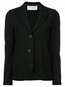 Harris Wharf London curved hem buttoned blazer - Black