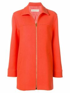 Emilio Pucci Zipped Virgin Wool Coat - Orange