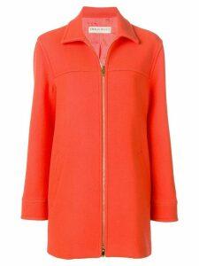 Emilio Pucci Zipped Virgin Wool Coat - Orange