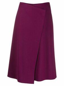 Escada wrap front skirt - Purple
