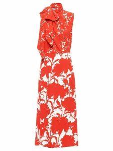 Prada carnation print dress - Red