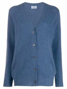 Prada v-neck cashmere cardigan - Blue
