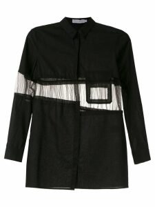 Mara Mac panelled shirt - Black