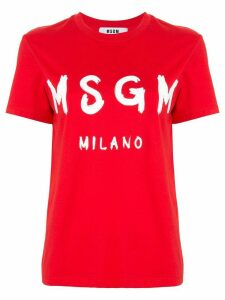 MSGM printed logo T-shirt - Red