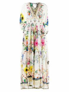 Camilla long kaftan dress - Neutrals