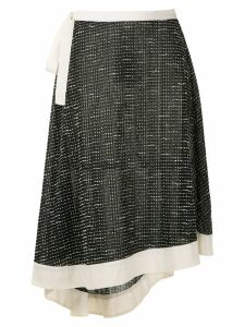 Framed Bouclé midi skirt - Black