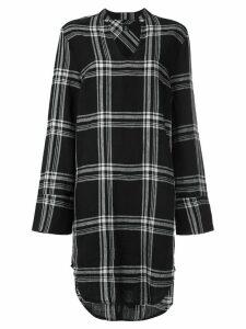 Osklen plaid shirt dress - Black