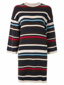 Osklen striped dress - Blue