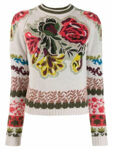 Etro floral intarsia jumper - Neutrals