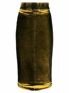 Nº21 faded effect pencil skirt - Yellow