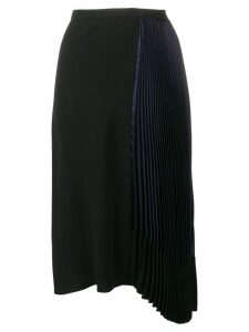 Marni pleated drape skirt - Blue