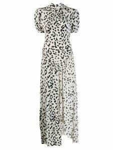 Self-Portrait leopard print dress - White