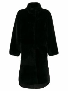 Liska oversized single-breasted coat - Black