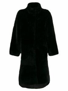 Liska oversized single-breasted coat - Black