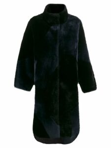 Liska oversized single-breasted coat - Blue