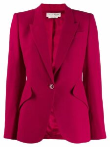 Alexander McQueen exaggerated shoulder blazer jacket - Pink
