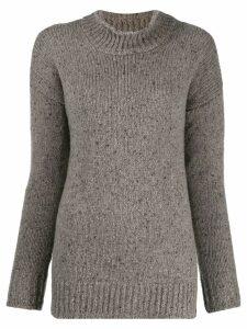 Liska speckled-knit jumper - Neutrals