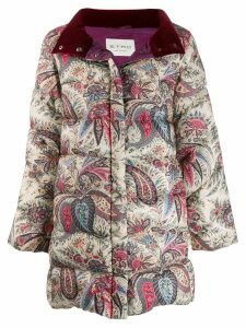 Etro paisley print quilted coat - Neutrals
