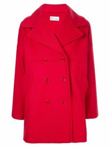 Red Valentino wide lapel coat