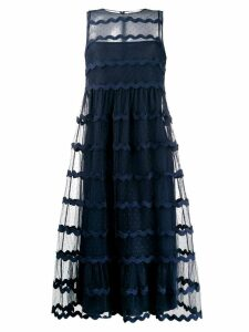 Red Valentino layered tulle dress - Blue