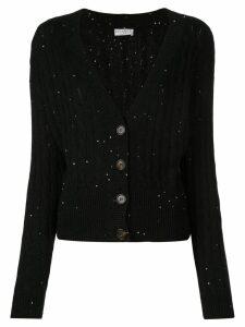 Brunello Cucinelli cable knit cardigan - Black