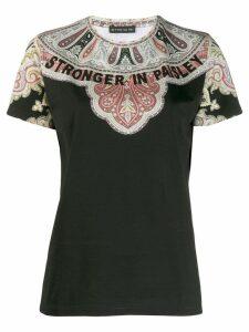 Etro paisley print T-shirt - Black
