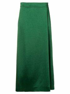 Theory A-line midi skirt - Green