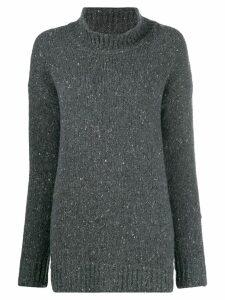 Liska speckled-knit jumper - Grey