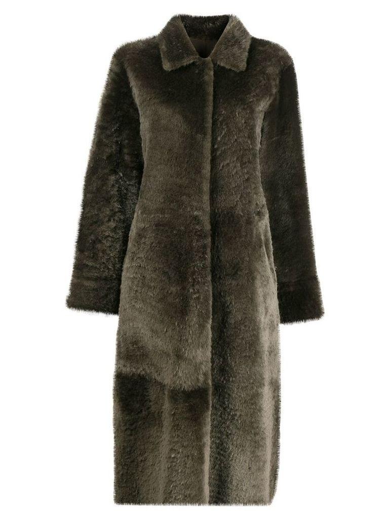 Liska oversized fur coat - Green