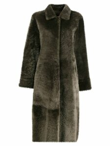 Liska oversized fur coat - Green