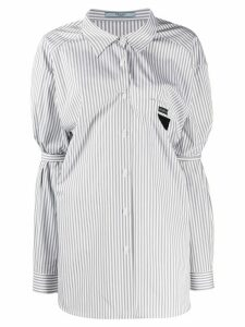 Prada ruched stripe shirt - Grey