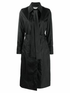Prada pussy-bow detail trench coat - Black