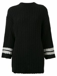 Osklen long line sweater - Black