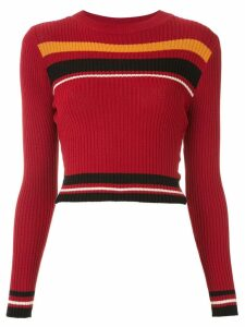 Osklen knitted cropped top - Red
