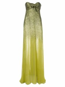 Oscar de la Renta strapless gown with ombré sequins - Green