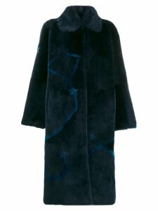 Liska star embroidered coat - Blue