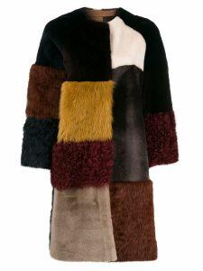 Liska colour-block coat - Yellow