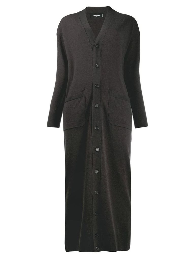 Dsquared2 long length cardi coat - Grey