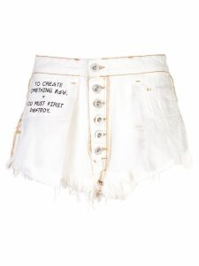 Unravel Project destroyed denim skirt - White