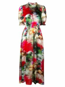 Adam Lippes all-over print dress - Red