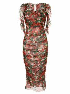 Dolce & Gabbana portofino print tulle midi dress - Red