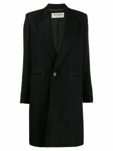 Saint Laurent single-breasted coat - Black